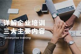 企业培训的内容是什么?详解企业培训三大主要内容