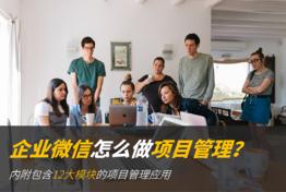 企业微信如何做项目管理