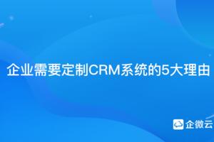 企业需要定制CRM系统的5大理由