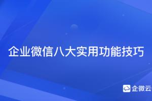 企业微信平台八大实用功能技巧